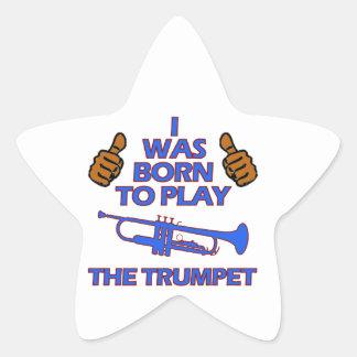 conceptions de musical de trompette sticker étoile