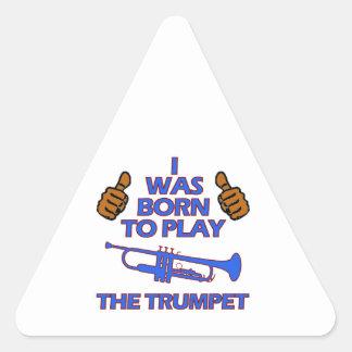 conceptions de musical de trompette sticker triangulaire