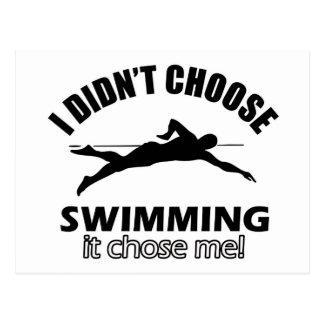 Conceptions de natation cartes postales