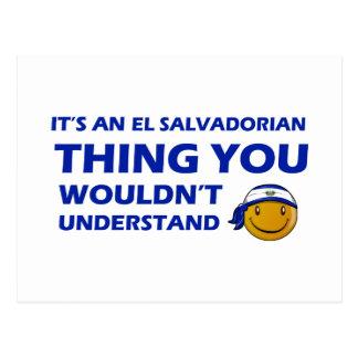 Conceptions de smiley du Salvador Carte Postale