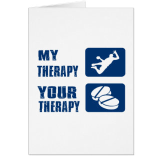 Conceptions de thérapie de handball carte de vœux