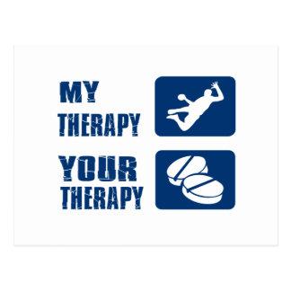 Conceptions de thérapie de handball carte postale