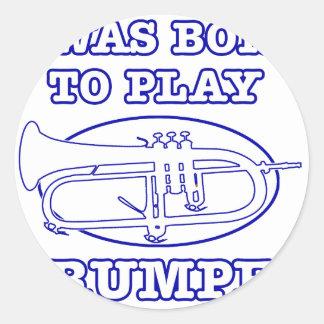 Conceptions de trompette sticker rond