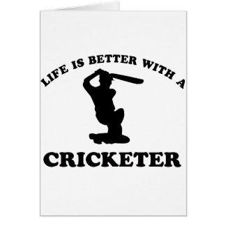 Conceptions de vecteur de cricket cartes