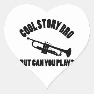 Conceptions de vecteur de trompette sticker cœur