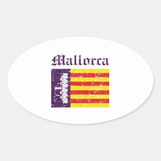 Conceptions de ville de Majorque Sticker Ovale