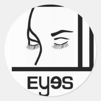 conceptions de yeux autocollant rond