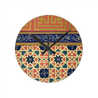Conceptions décoratives arabes (litho de couleur) horloge ronde