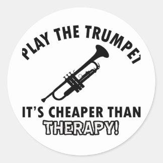 Conceptions d'instrument de TROMPETTE Sticker Rond