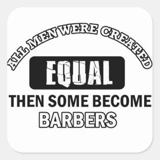 Conceptions fraîches de coiffeurs sticker carré