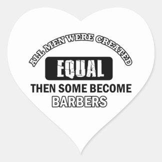 Conceptions fraîches de coiffeurs sticker cœur