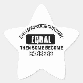 Conceptions fraîches de coiffeurs sticker étoile