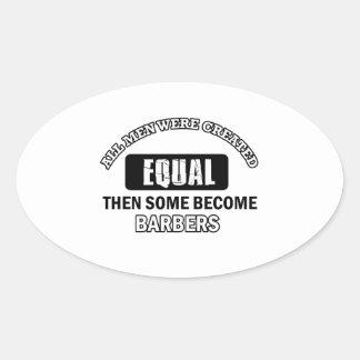 Conceptions fraîches de coiffeurs sticker ovale