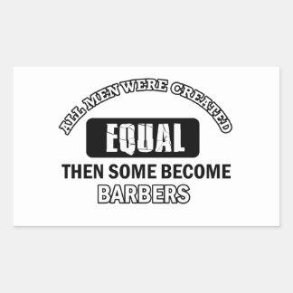 Conceptions fraîches de coiffeurs sticker rectangulaire