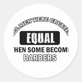 Conceptions fraîches de coiffeurs sticker rond