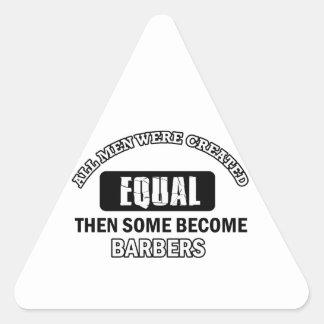 Conceptions fraîches de coiffeurs sticker triangulaire