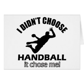 Conceptions fraîches de handball carte de vœux