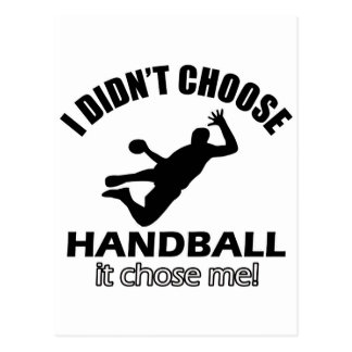 Conceptions fraîches de handball carte postale