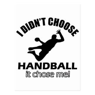 Conceptions fraîches de handball cartes postales
