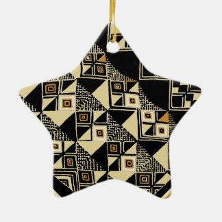 Conceptions inspirées par Kuba d'Africain Ornement Étoile En Céramique