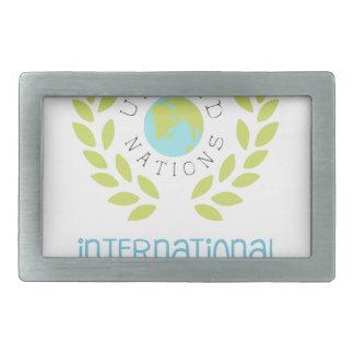 Conceptions internationales d'étiquette de jour de boucle de ceinture rectangulaire