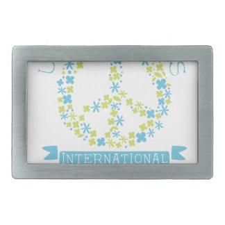Conceptions internationales d'étiquette de jour de boucles de ceinture rectangulaires