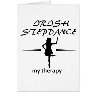 conceptions irlandaises de danse d'étape cartes de vœux