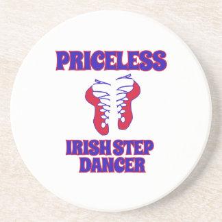 Conceptions irlandaises de danse d'étape dessous de verre en grès