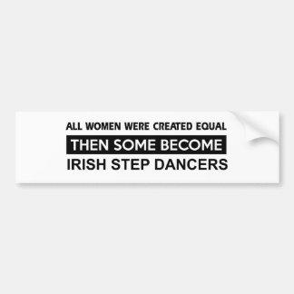 Conceptions irlandaises fraîches de danse d'étape autocollant de voiture