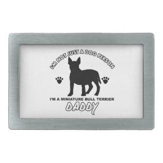 Conceptions MINIATURES de papa de chien de BULL-TE Boucle De Ceinture Rectangulaire