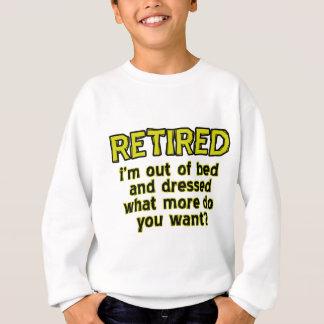 Conceptions retirées drôles sweatshirt