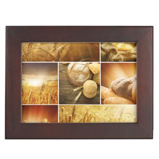 Concepts de Wheat.Harvest. Collage de céréale Boîtes À Souvenirs