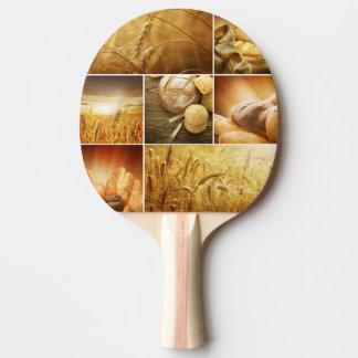Concepts de Wheat.Harvest. Collage de céréale Raquette Tennis De Table