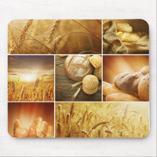 Concepts de Wheat.Harvest. Collage de céréale Tapis De Souris