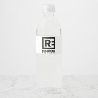 Concernant l'art dentaire - bouteille d'eau de étiquette pour bouteilles d'eau