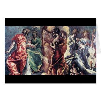 Concert angélique par El Greco (Theotokopoulos) Carte De Vœux