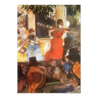 Concert de café chez Les Ambassadeurs par Edgar Carton D'invitation 12,7 Cm X 17,78 Cm