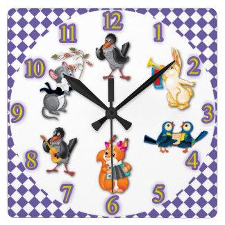 concert horloge carrée