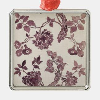 Concevez pour une damassé en soie, 1752 (crayon et ornement carré argenté