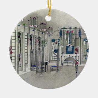 Concevez pour une salle de musique avec des ornement rond en céramique