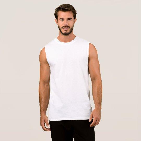 T-shirt sans manches tout coton pour homme, Blanc