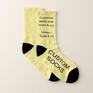 Concevez vos propres petites chaussettes JAUNES