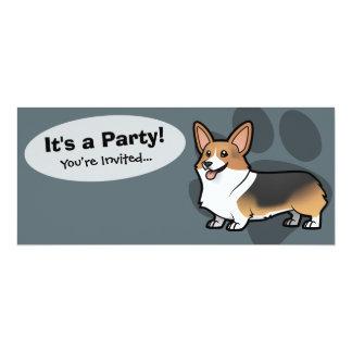 Concevez votre propre animal familier carton d'invitation  10,16 cm x 23,49 cm