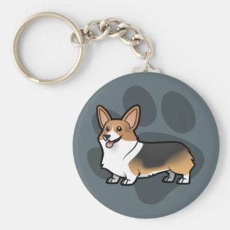 Concevez votre propre animal familier porte-clé rond