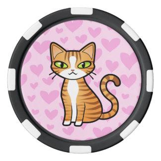 Concevez votre propre chat de bande dessinée (les jetons de poker