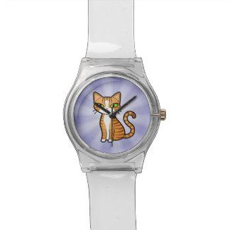 Concevez votre propre chat de bande dessinée montres cadran