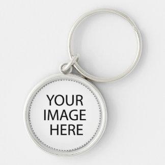 Concevez votre propre ~ créent votre propre cadeau porte-clé rond argenté