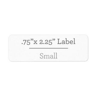 Concevez votre propre étiquette 8,5 x 11 étiquette d'adresse retour