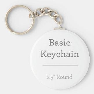 Concevez votre propre porte - clé rond de photo porte-clés