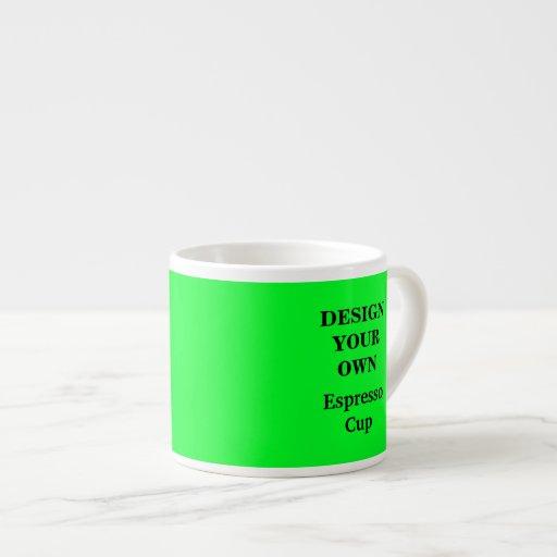 Concevez votre propre tasse de café express - vert mugs pour expresso